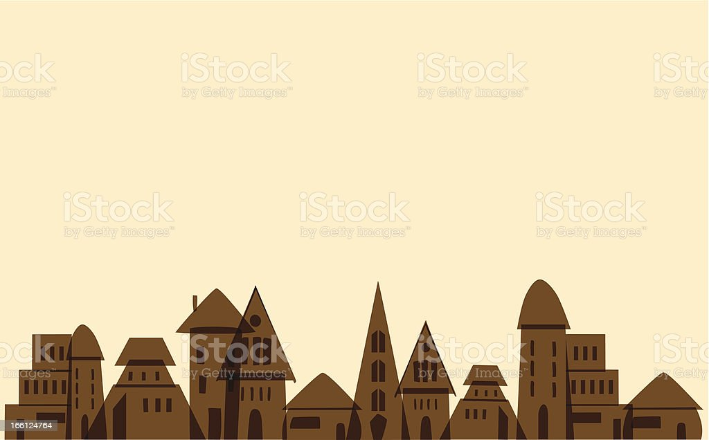 Vintage town royalty-free stock vector art