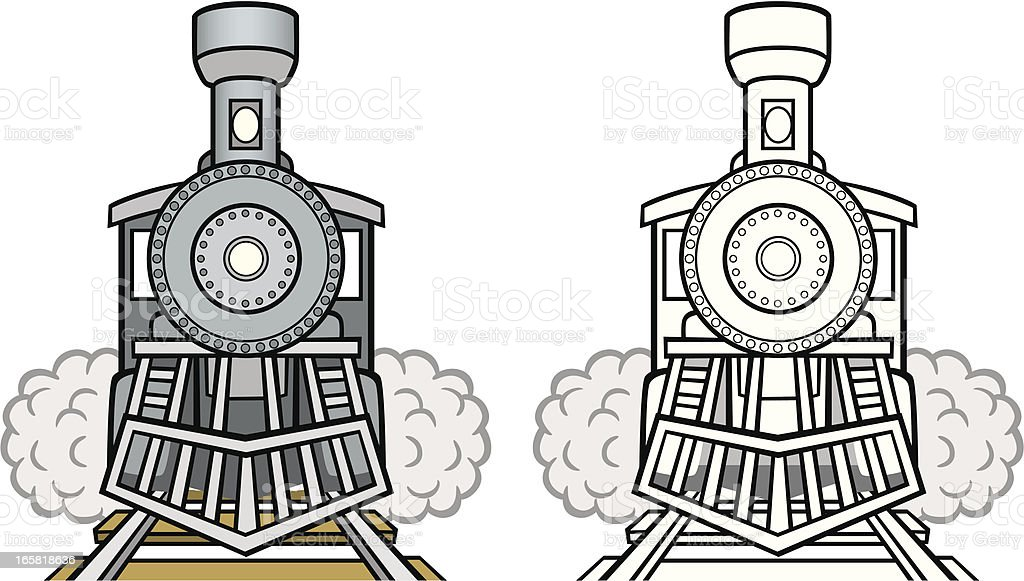 Vintage Train royalty-free stock vector art