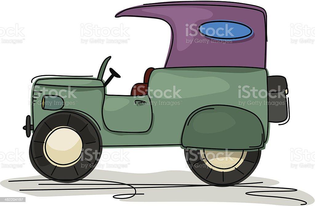 Vintage truck cartoon royalty-free stock vector art
