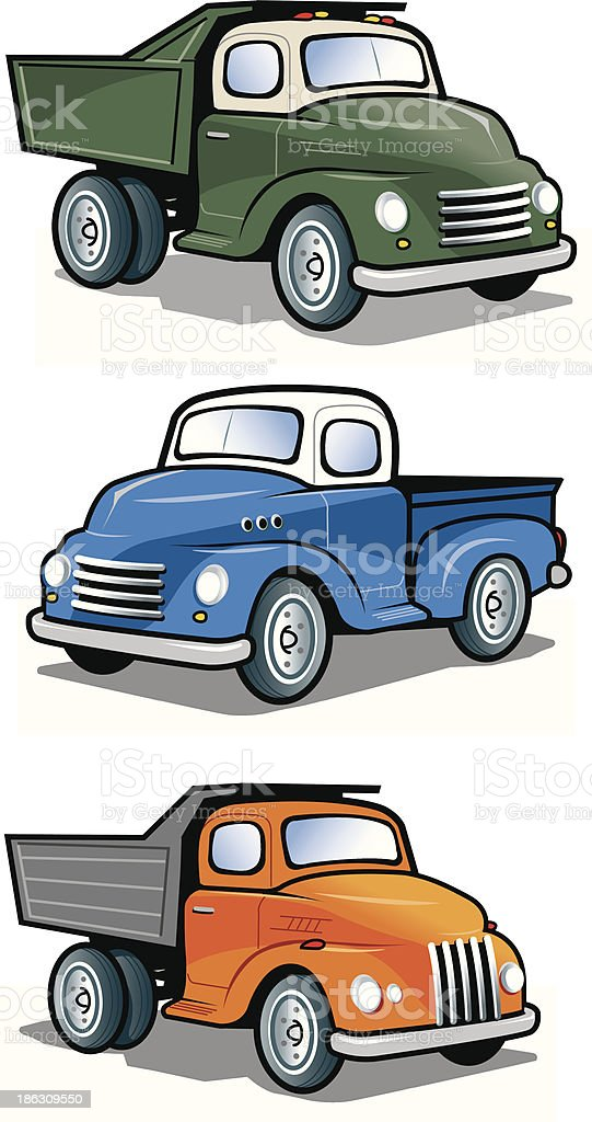 Vintage Trucks royalty-free stock vector art