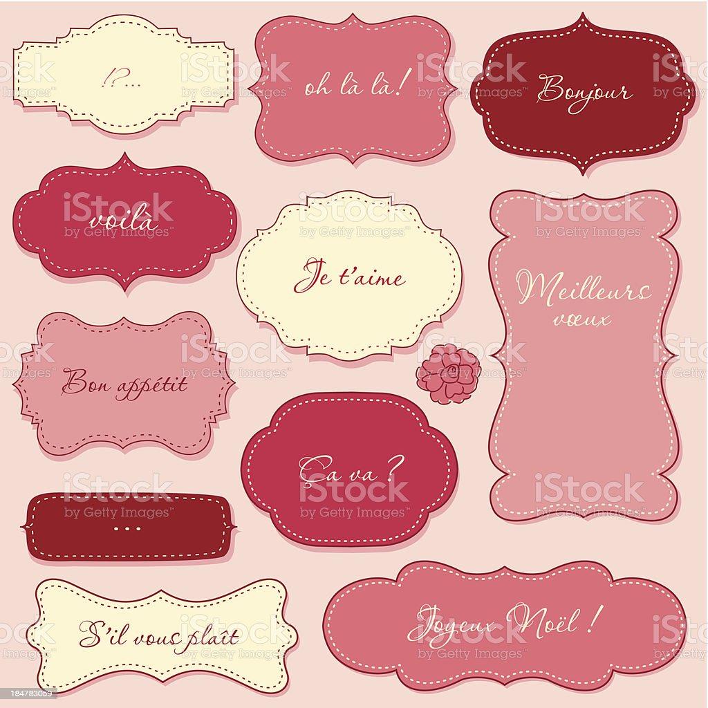Vintage Valentine Frames royalty-free stock vector art