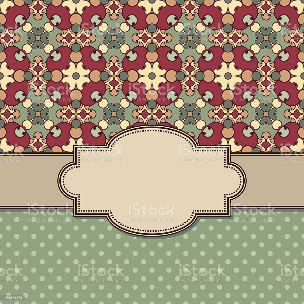 Vintage vector flower frame royalty-free stock vector art