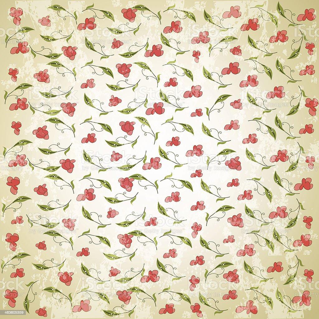 vintage vector floral background vector art illustration