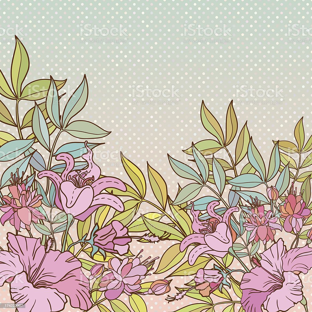 Vintage vector flower frame vector art illustration