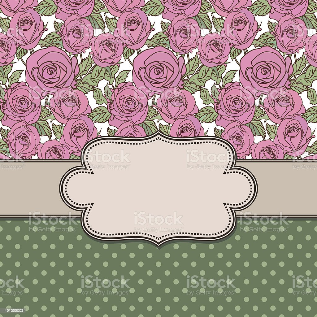 Vintage vector flower frame royalty-free stock vector art