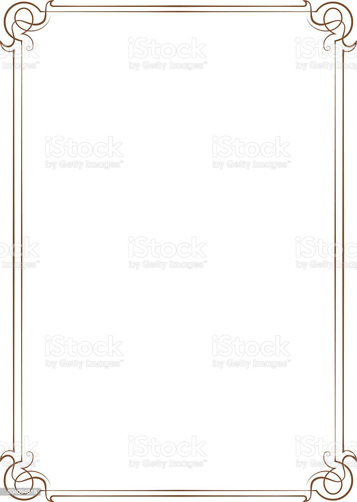 Vintage vector frame vector art illustration