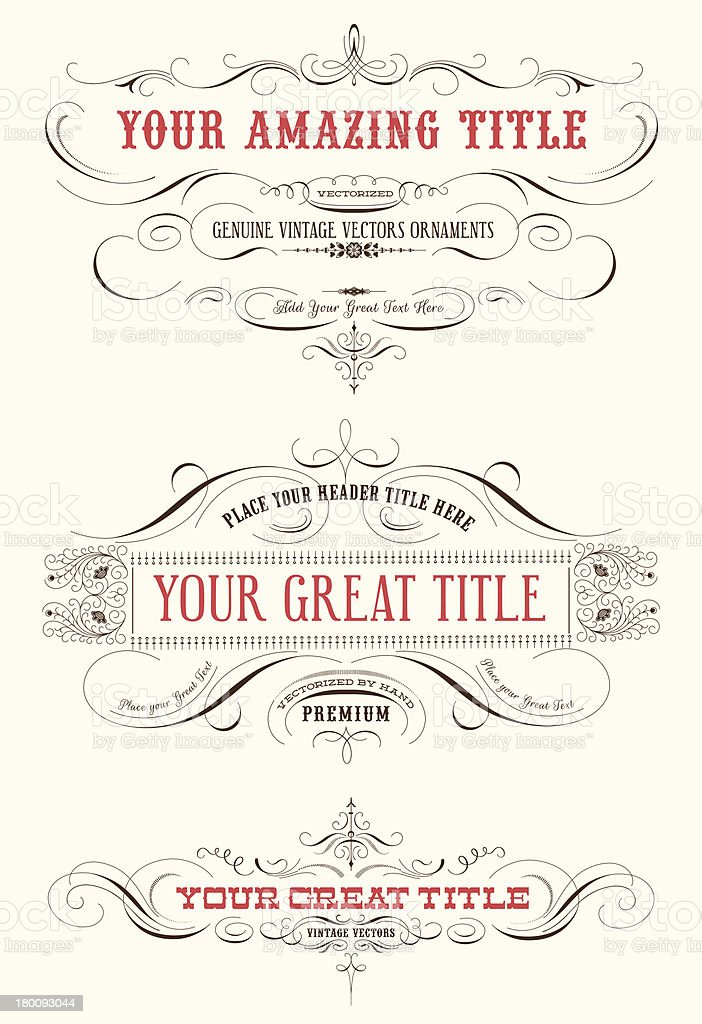 Vintage Vector Labels royalty-free stock vector art