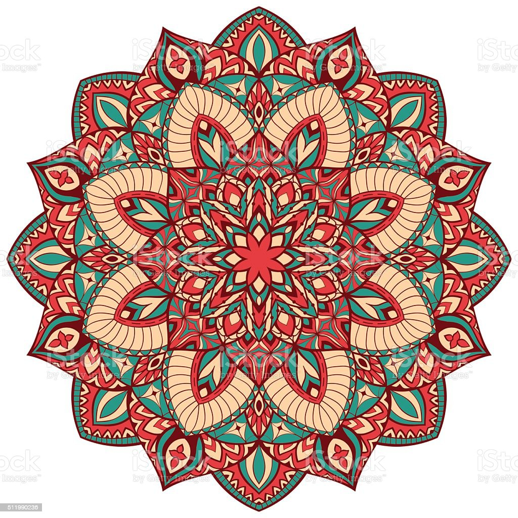 Vintage vector mandala. vector art illustration