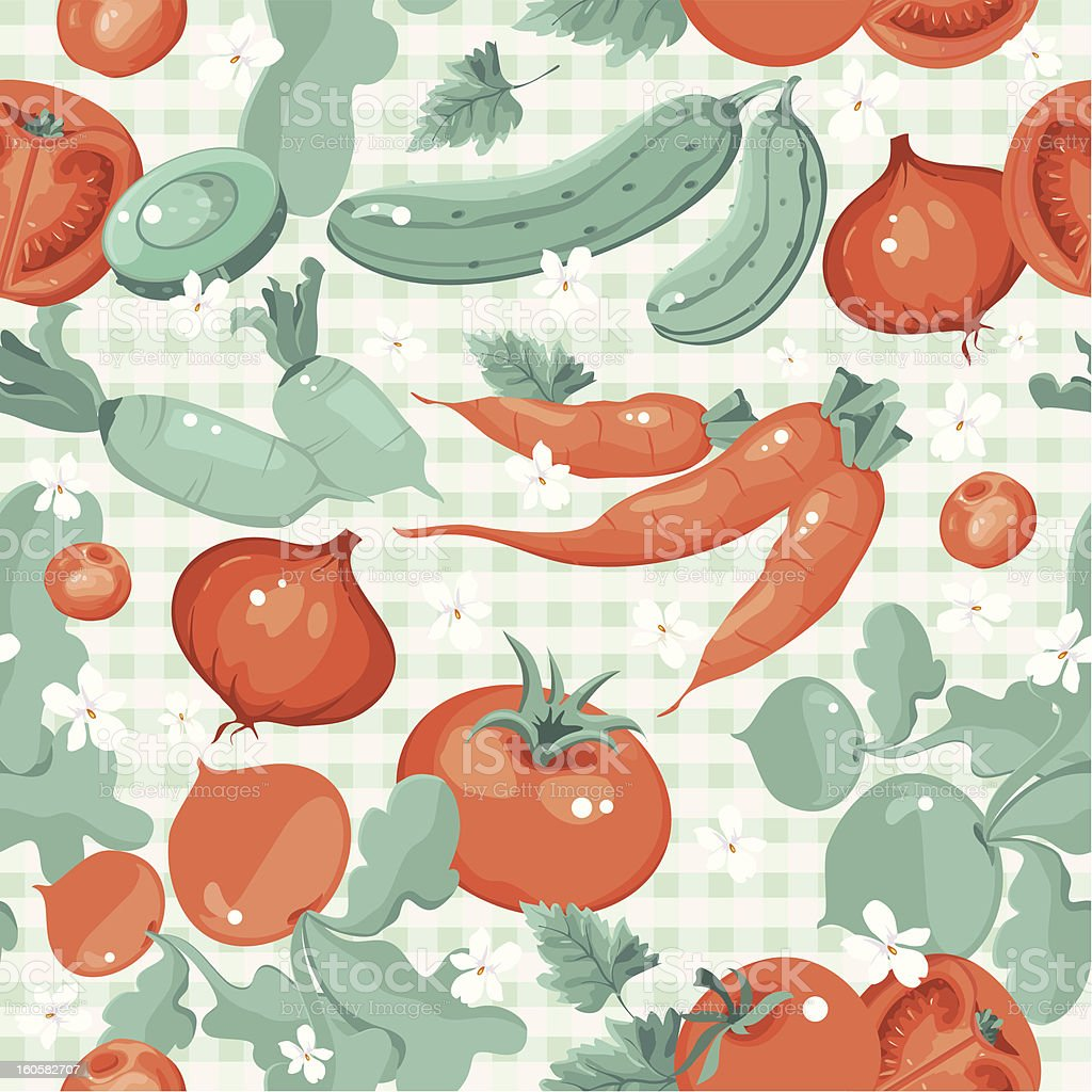 Vintage vegetable seamless pattern royalty-free stock photo