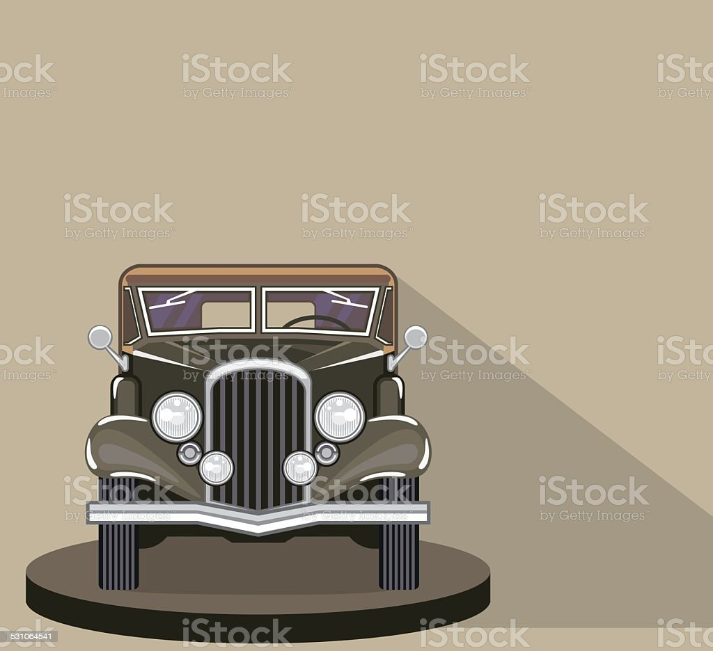 Vintage Vehicle vector art illustration