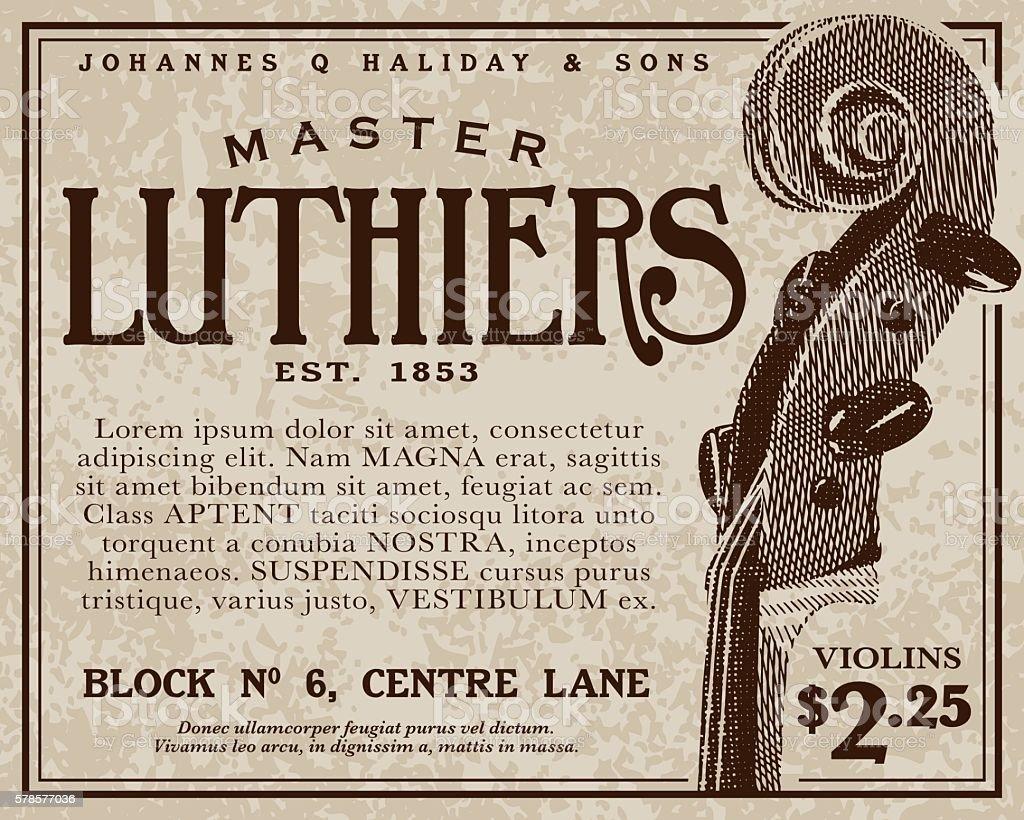Vintage Victorian Style Advertisement vector art illustration