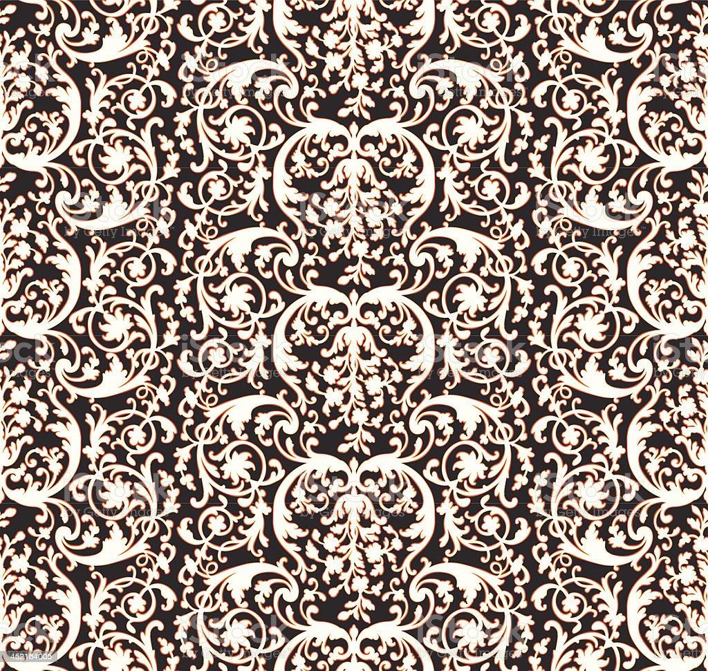 Vintage Victorian Wallpaper Pattern royalty-free stock vector art