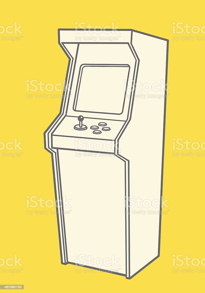 Vintage Video Game vector art illustration