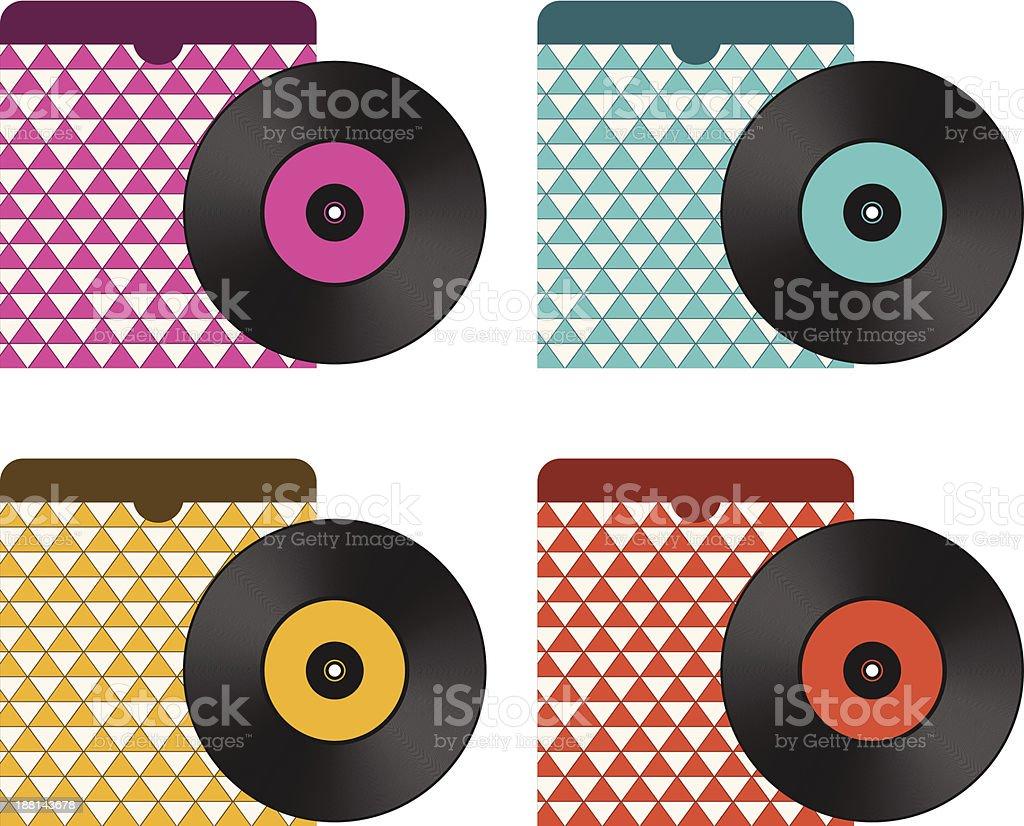 Vintage Vinyl Records royalty-free stock vector art