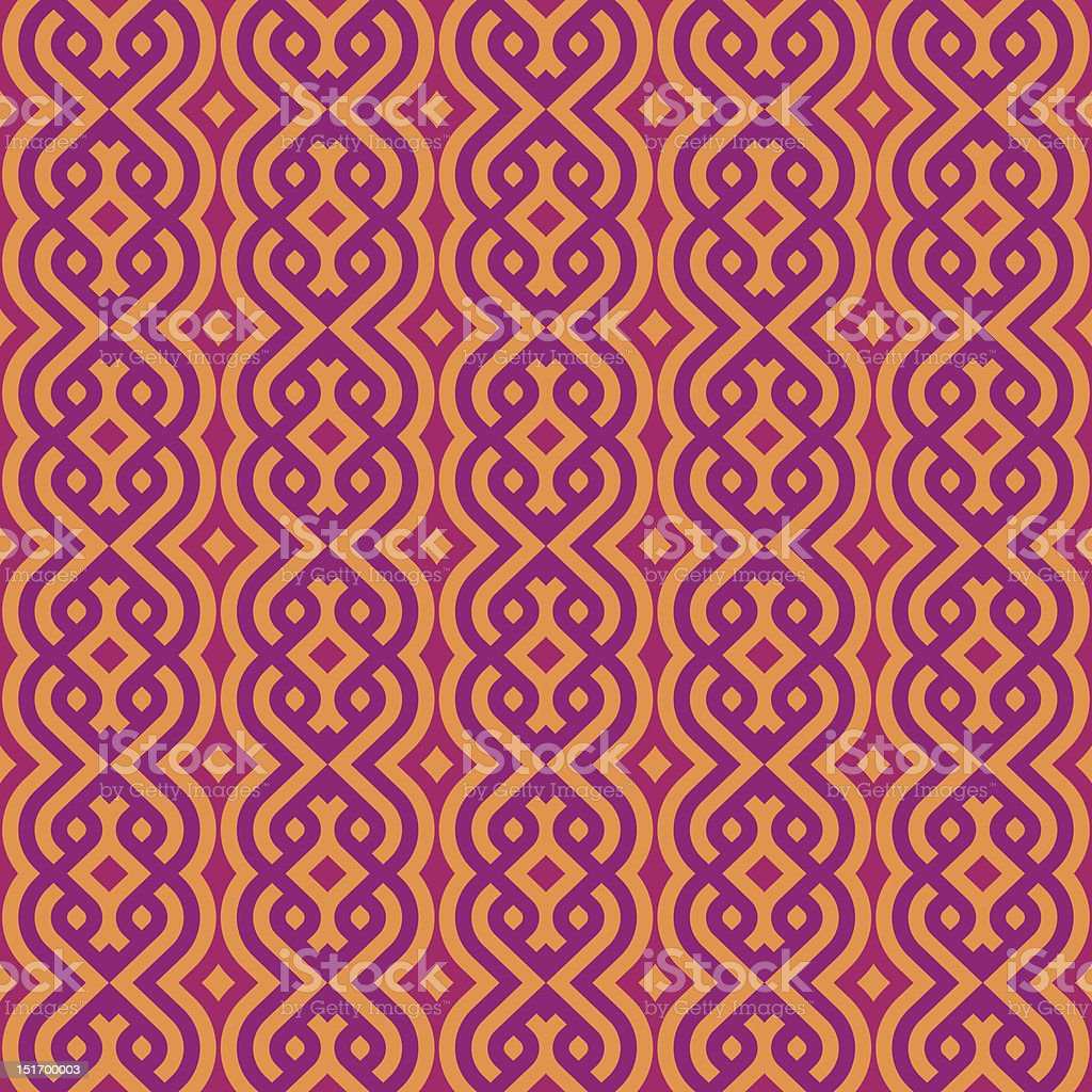 vintage wallpaper pattern seamless background. Vector. royalty-free stock vector art