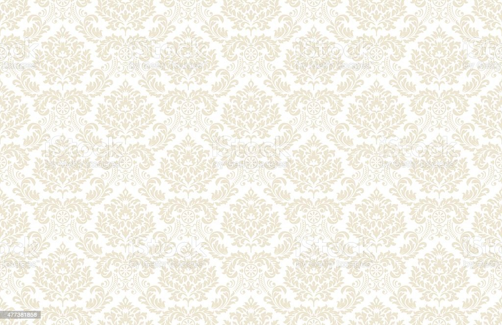 Vintage wallpaper pattern vector art illustration