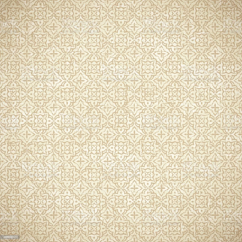 Vintage Wallpaper Seamless Background vector art illustration