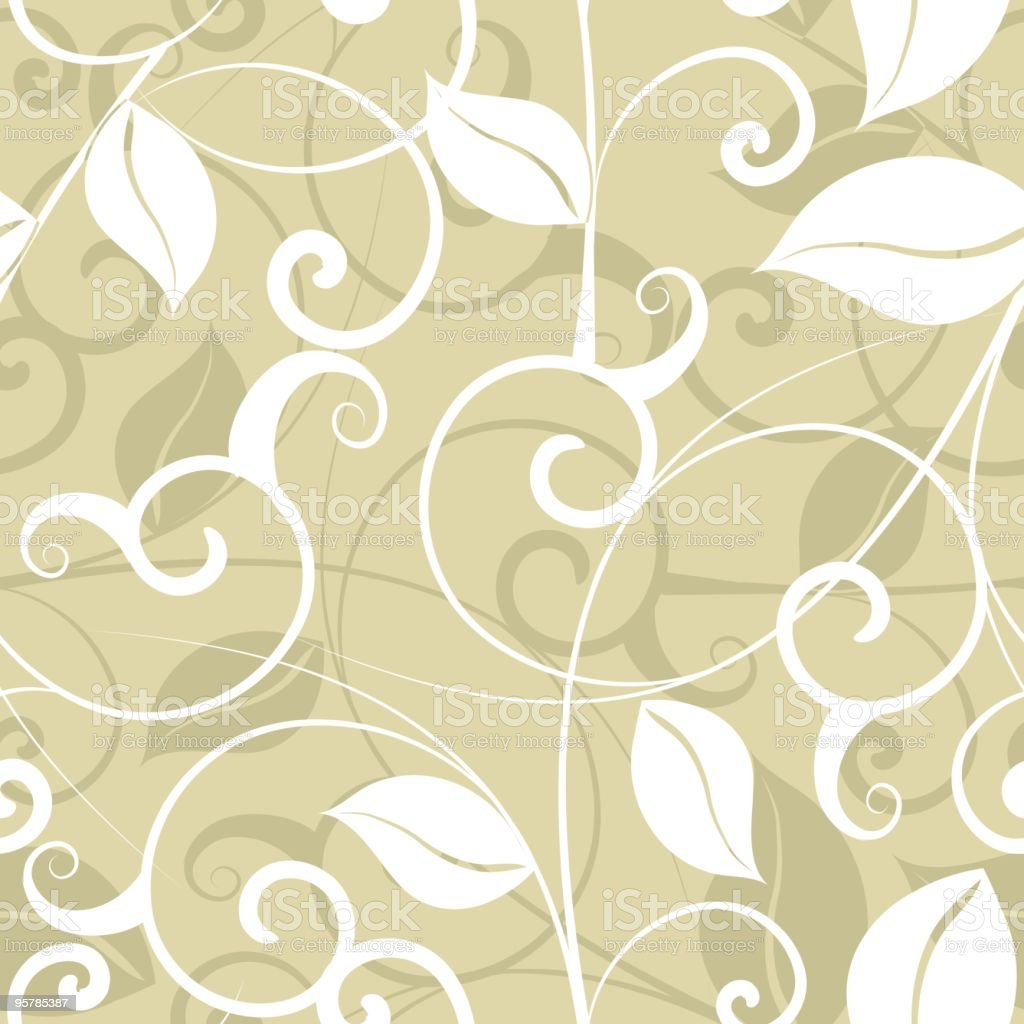 Vintage Wallpaper Swirly leaf Pattern royalty-free stock vector art