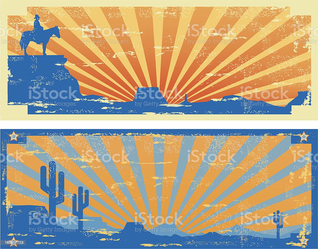 Vintage Western Labels royalty-free stock vector art