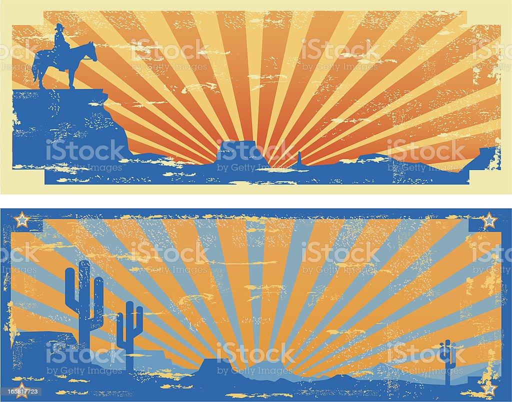 Vintage Western Labels vector art illustration