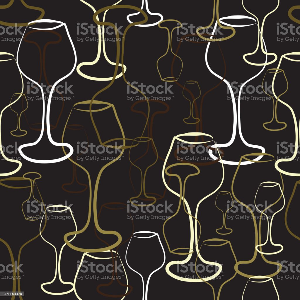 Vintage wine glass repeating seamless background royalty-free stock vector art