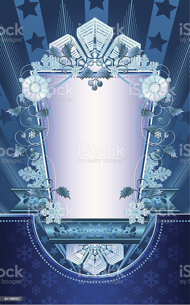 vintage winter background with snowflakes. royalty-free stock vector art