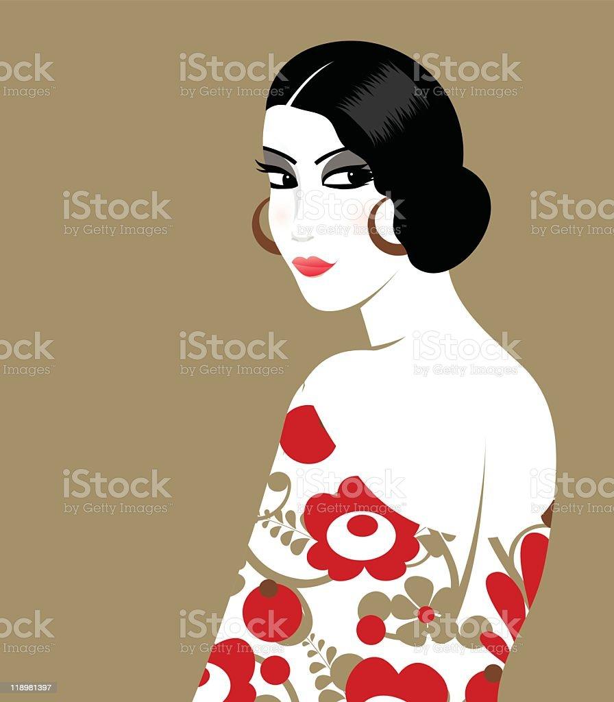 Vintage woman royalty-free stock vector art