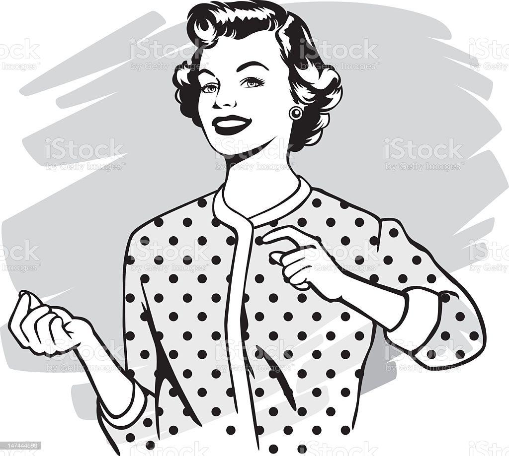 vintage woman vector art illustration