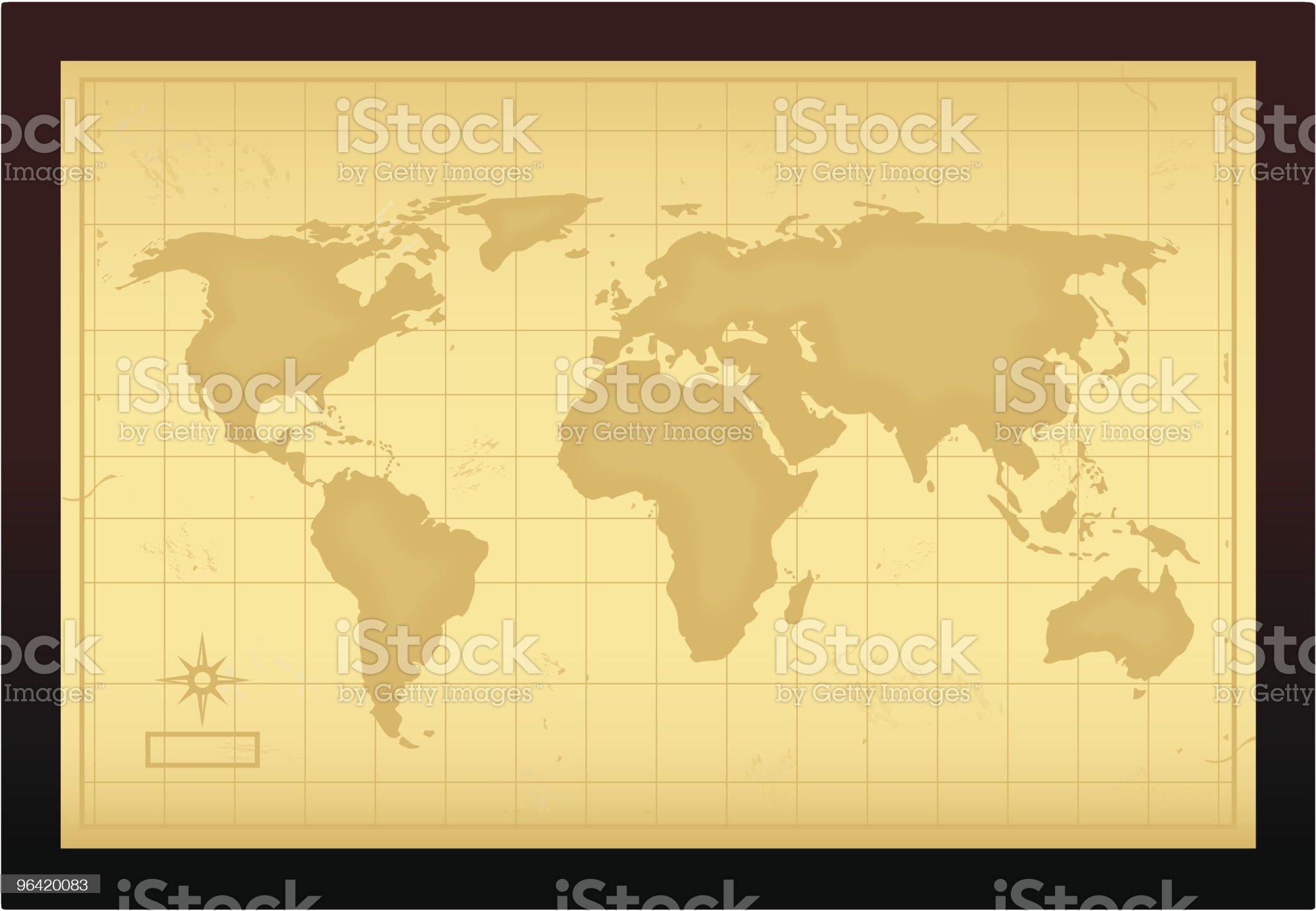 Vintage World Map royalty-free stock vector art