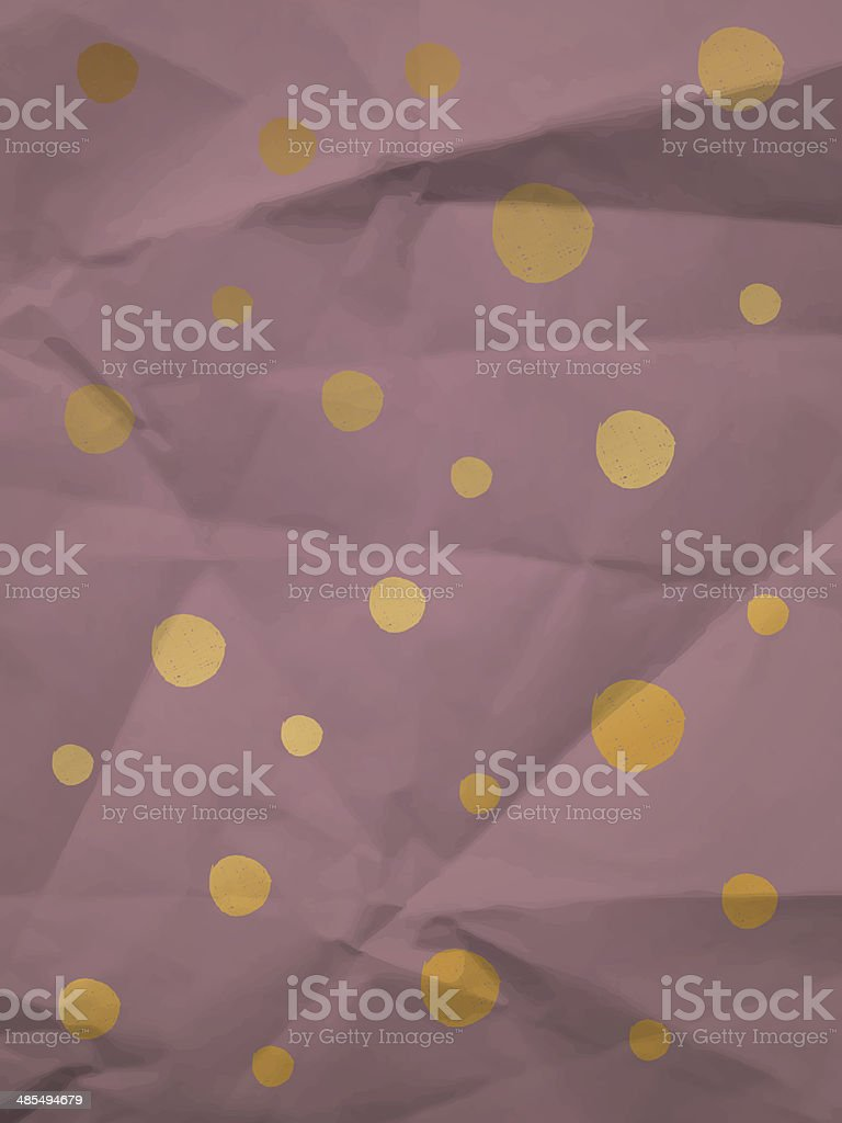 Vintage wrapping paper with big dots royalty-free stock vector art