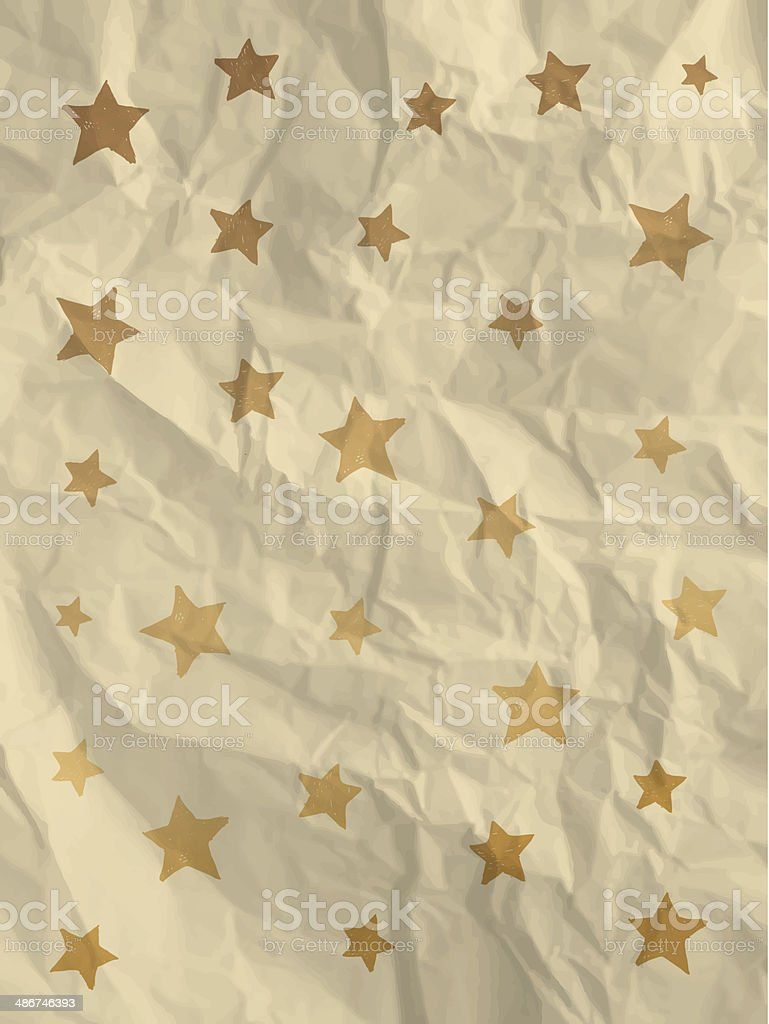 Vintage wrapping paper with stars royalty-free stock vector art