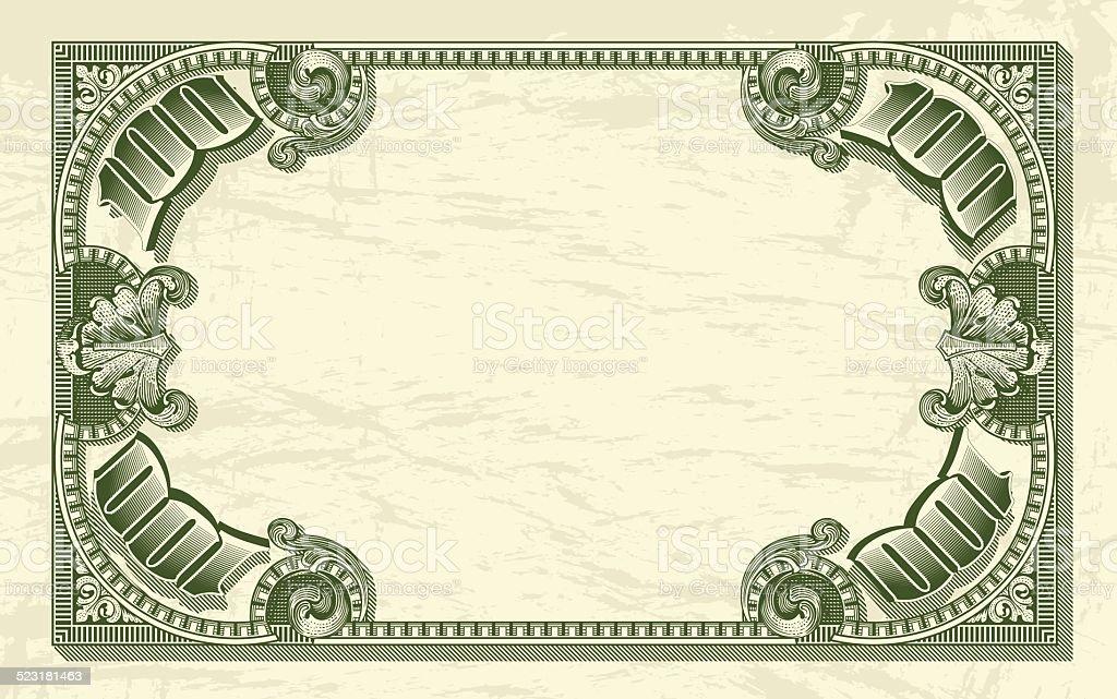 Vintage_dollar_frame_as_money_background vector art illustration