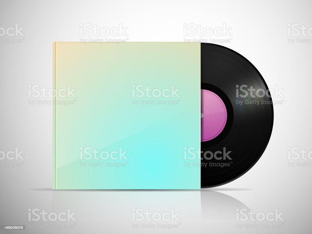 Vinyl Package vector art illustration