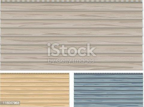 Vinyl Siding Woodgrain Clapboard Stock Vector Art