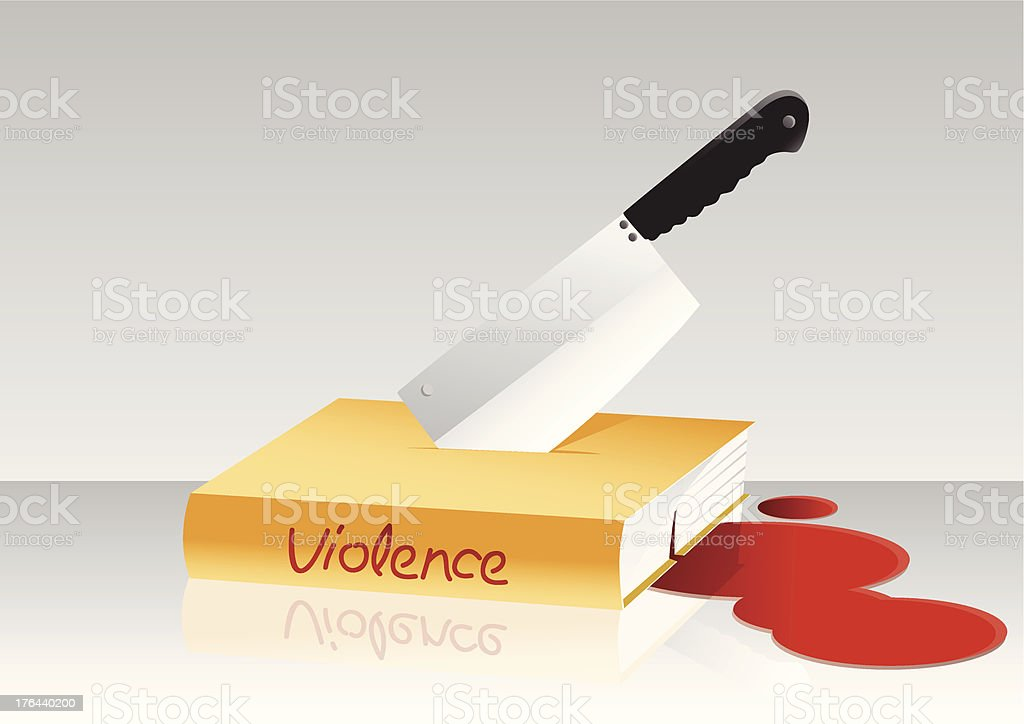 Violence book royalty-free stock vector art