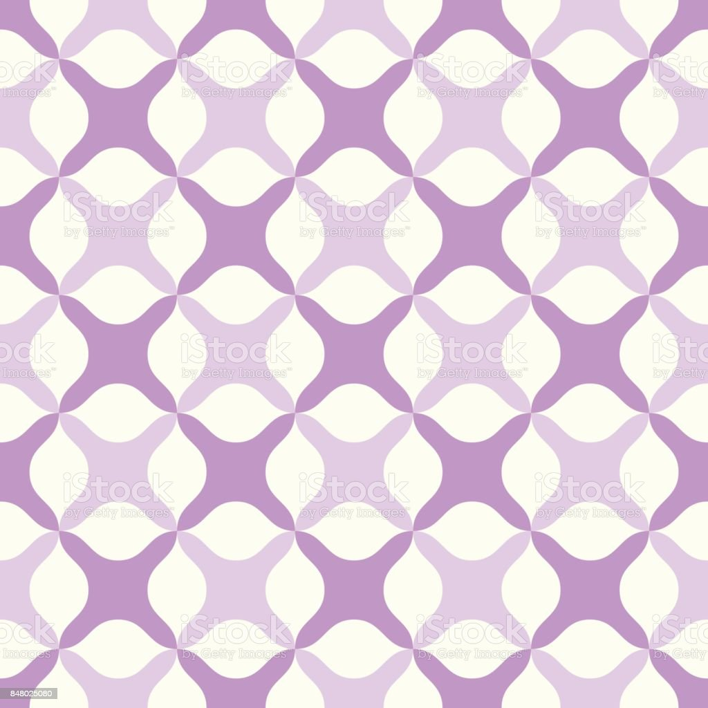 Violet Abstract Cross Pattern on Pastel Color vector art illustration