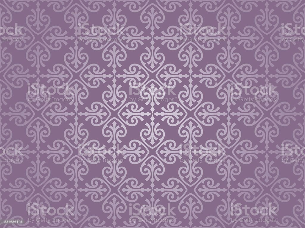 violet and silver  luxury vintage wallpaper vector art illustration