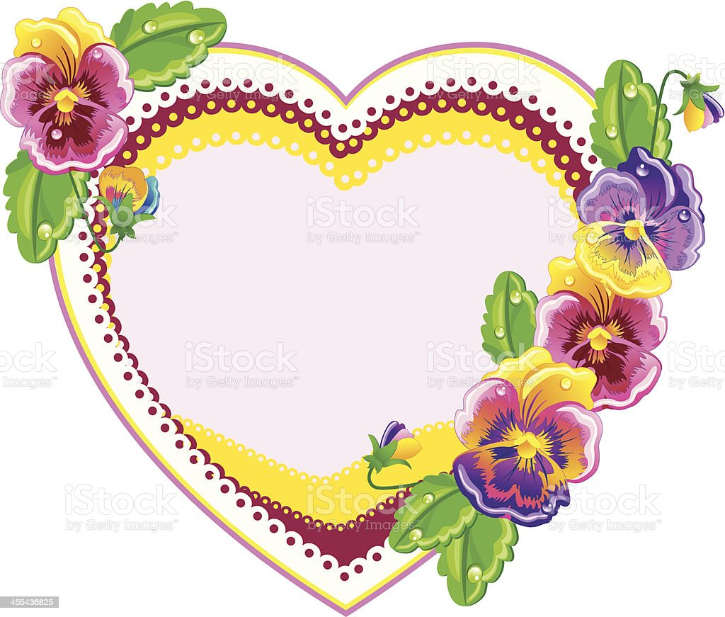 Violet heart. royalty-free stock vector art