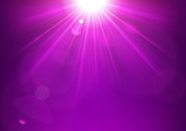 Violet lights shining with lens flare background