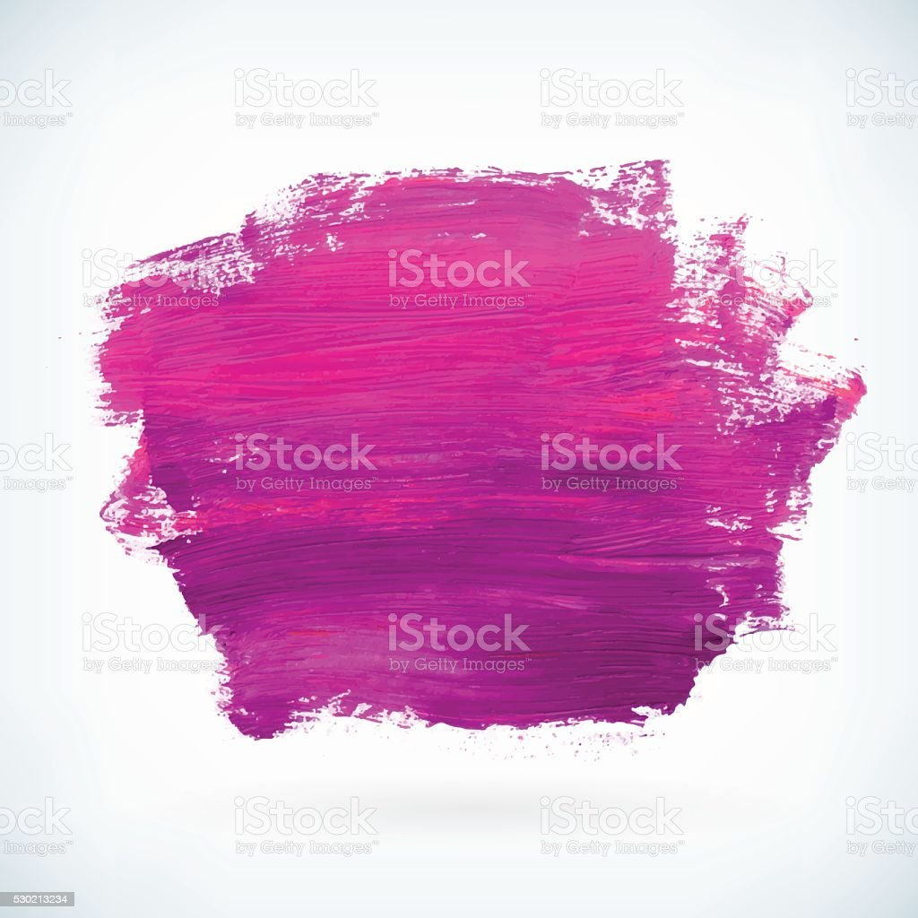 Violet paint artistic dry brush stroke vector background vector art illustration