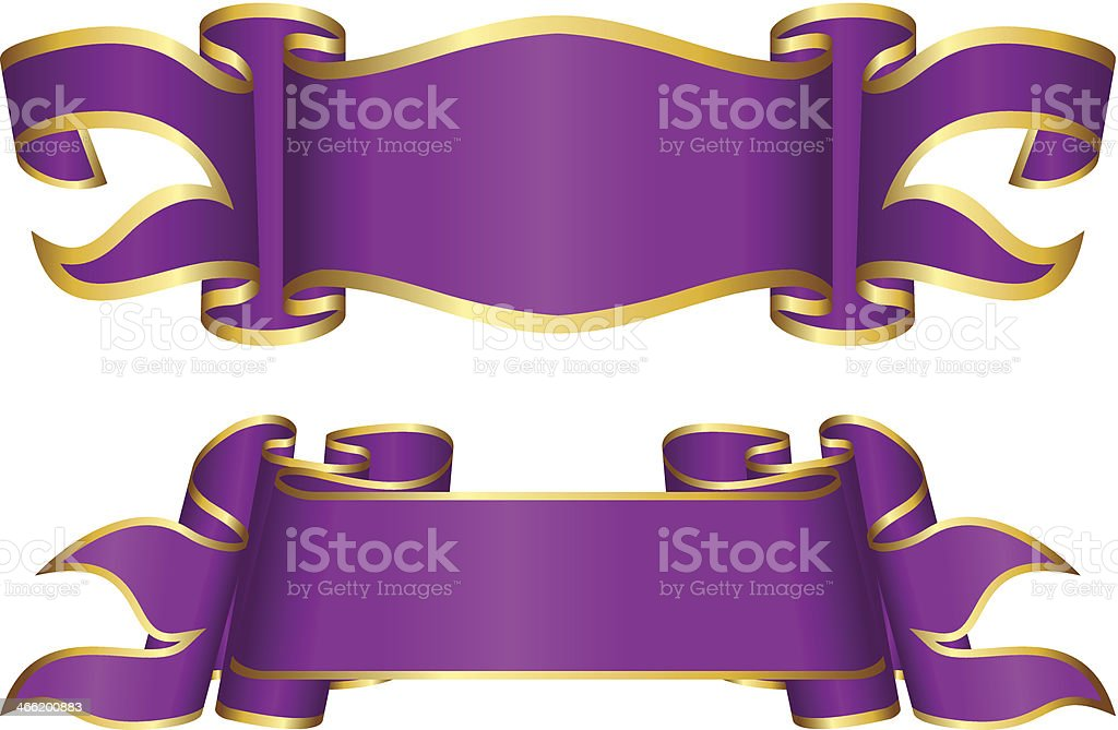 Violet ribbon collection royalty-free stock vector art