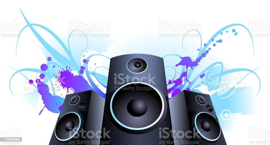 Violet sound splash royalty-free stock vector art