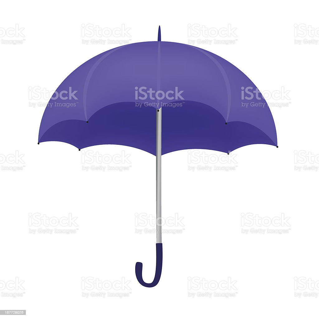 Violet umbrella isolated on white background royalty-free stock vector art
