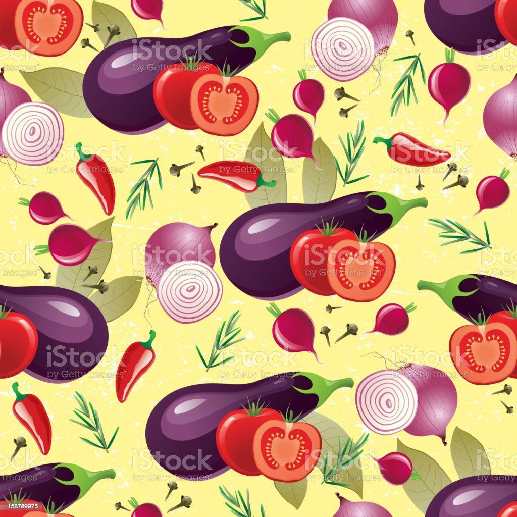 violet vegetables seamless royalty-free stock vector art