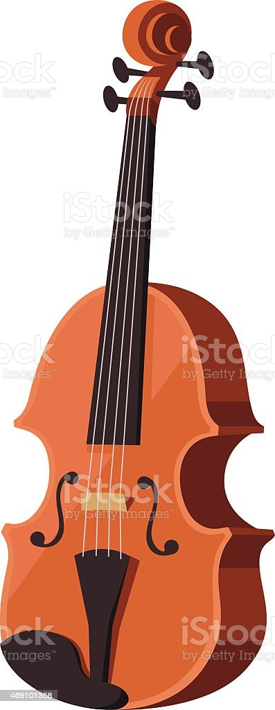 Violin Cartoon vector art illustration