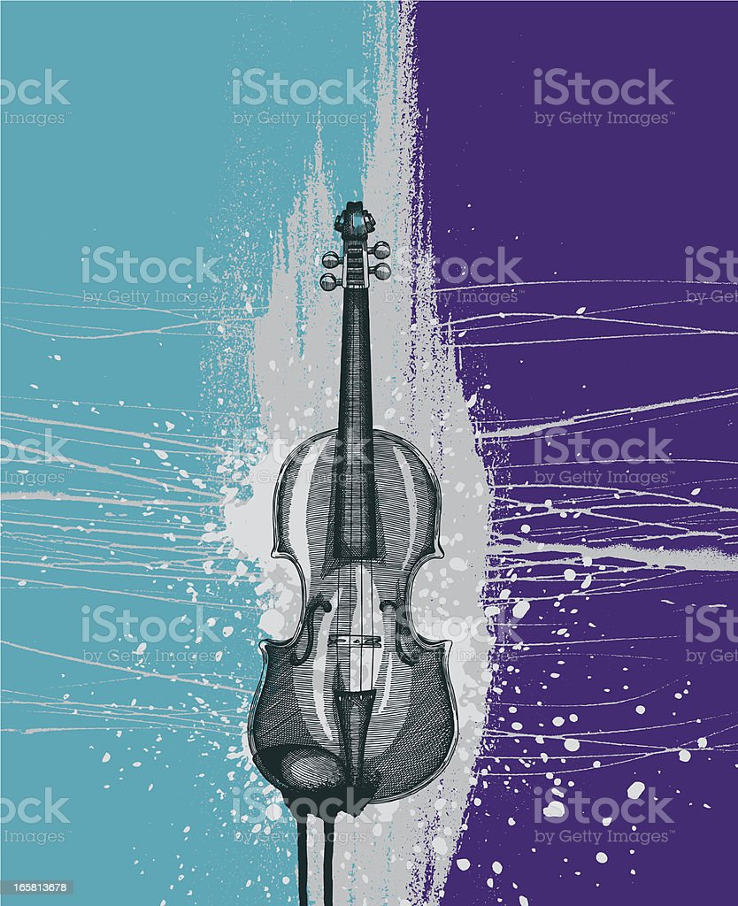 Violin Grunge Design vector art illustration