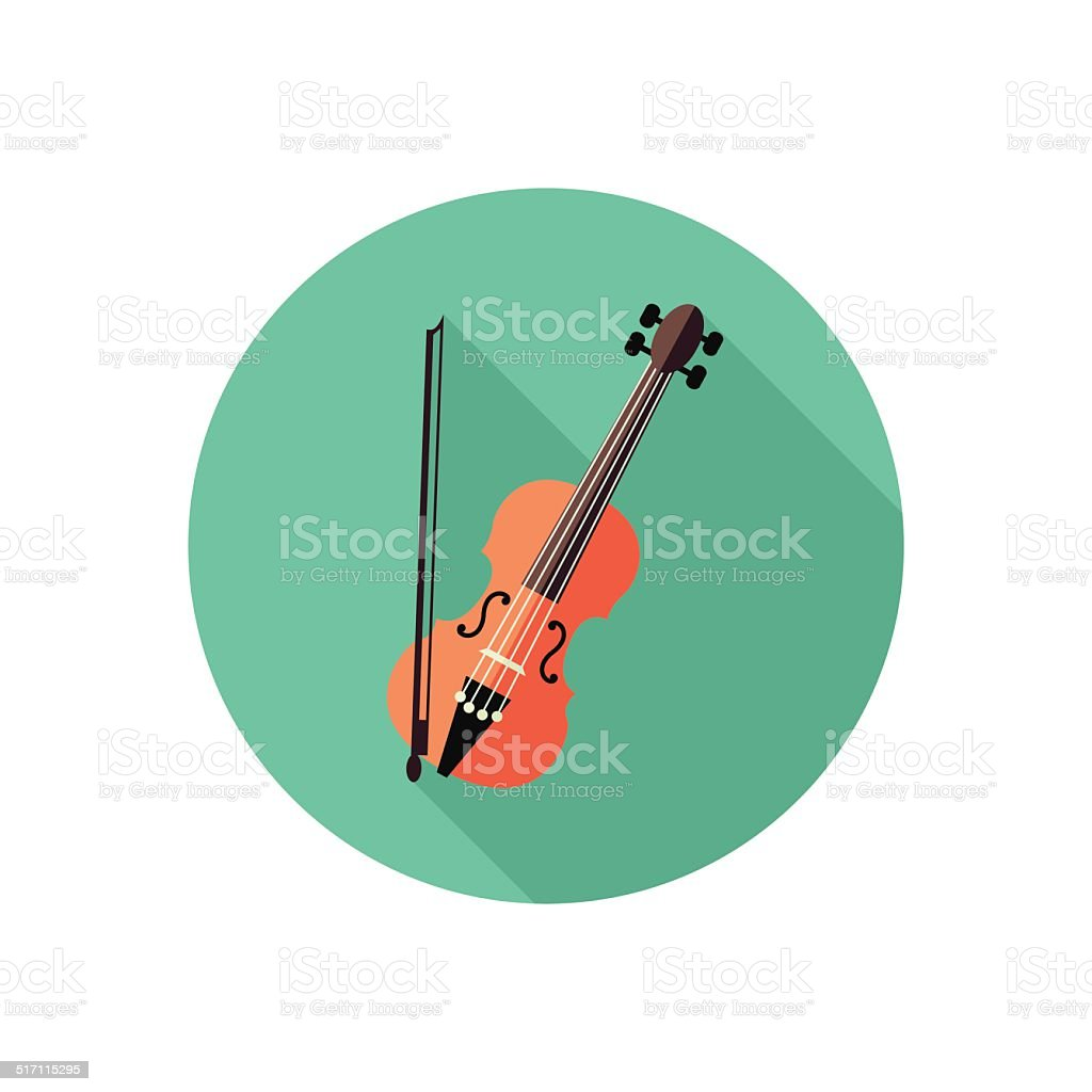 violin icon vector art illustration
