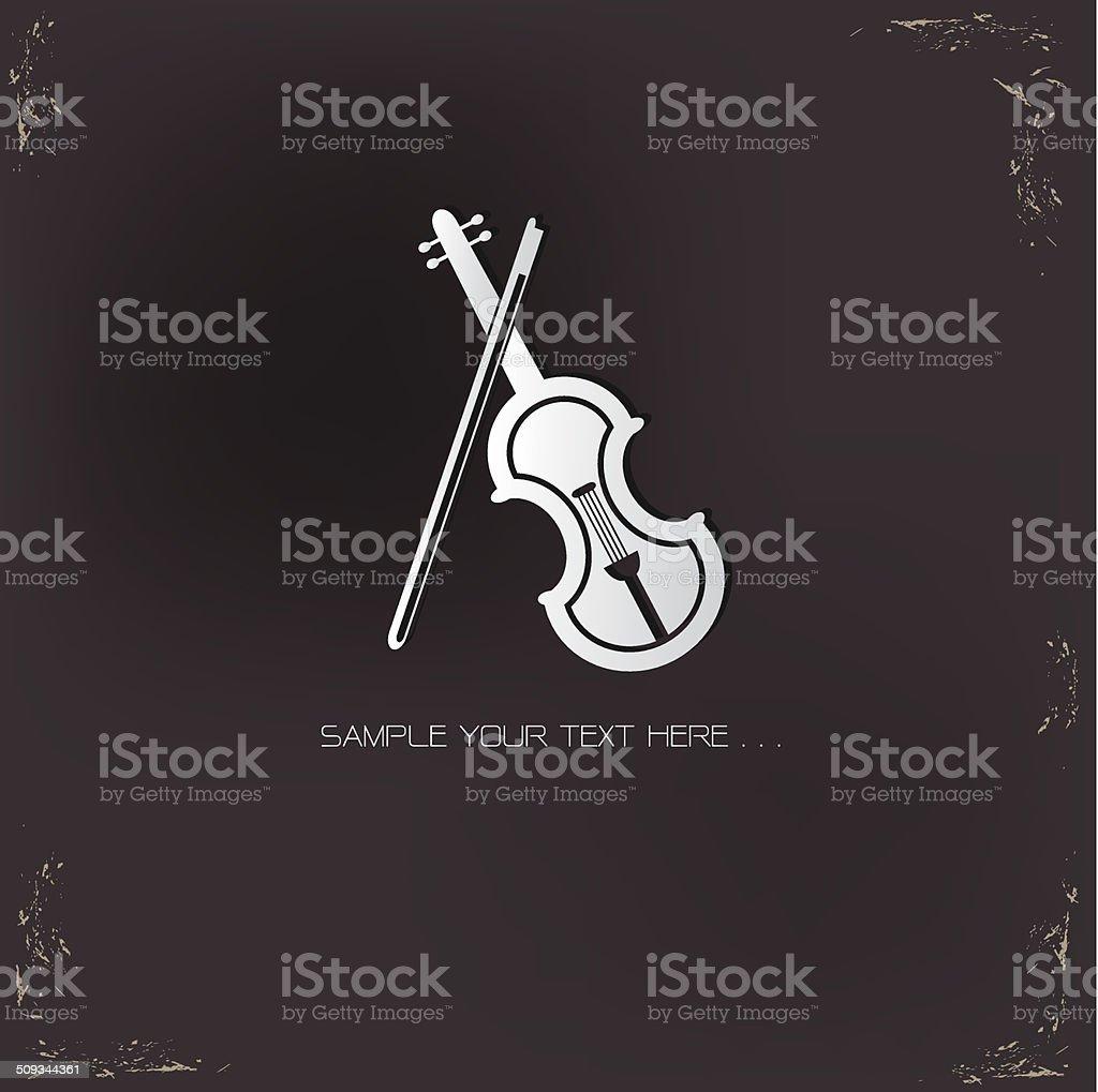 Violin symbol,vector vector art illustration
