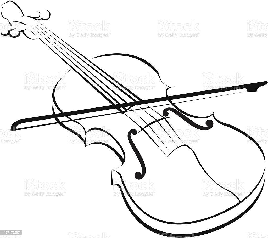 Free Line Art Converter : Violin stock vector art istock