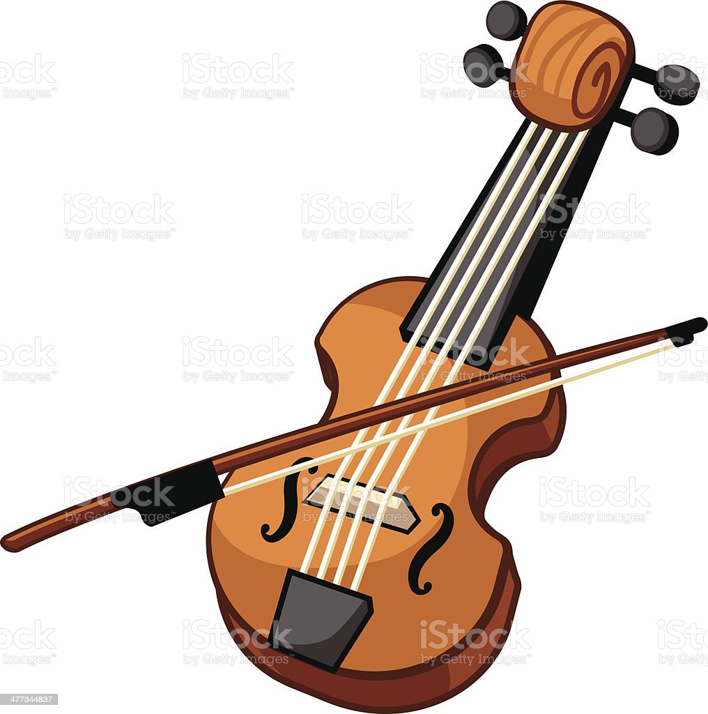 Violin royalty-free stock vector art